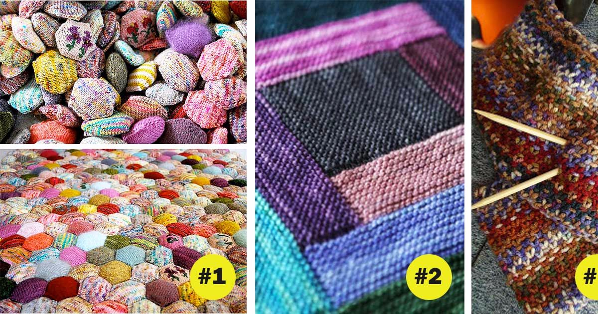 How To Knit Stitches On Scrap Yarn : 17 awesome knitting projects to finally use all that scrap yarn